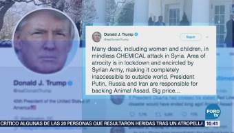 Trump condena el ataque químico en Siria