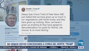 Trump Critica Chuck Todd Comentarios Corea Del Norte