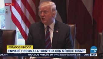 Trump critica ley que permite paso de caravana de migrantes
