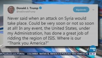 Trump dice que su administración ha hecho un gran trabajo contra ISIS