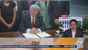 Trump exige a México frenar caravana de migrantes