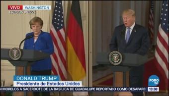 Trump habla con Merkel sobre erradicar al Estado Islámico Irak y Siria