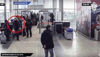Difunden video el exespía ruso Serguéi Skripal en el aeropuerto