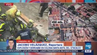 Van Cuatro Personas Rescatadas Explosión Iztacalco