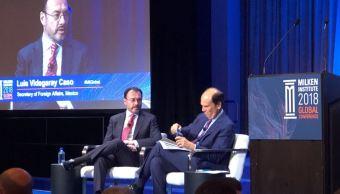 Luis Videgaray participa en Conferencia Global en Los Ángeles, California