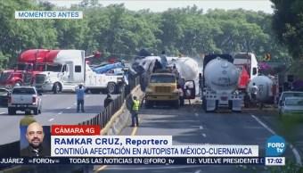 Abrirán Carril México-Cuernavaca Desahogar Flujo Vial