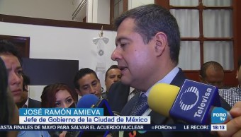 Refuerzan Operativos Seguridad Delegaciones José Ramón Amieva, jefe de Gobierno de la CDMX,