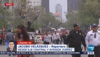 Manifestantes Marchan Eje Central Avenida Juárez Cdmx
