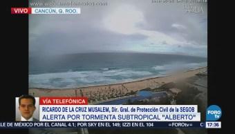 Protección Civil Preparada Temporada Ciclones Ricardo de la Cruz Musalem, director de Protección Civil de la Segob,