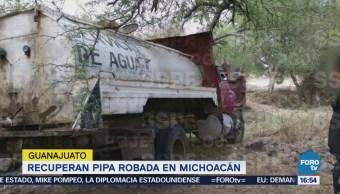 Recuperan Pipa Robada Michoacán