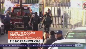los policías de San Martín Texmelucan sin preparación