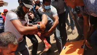 Un Palestino muerto por disparos del Ejército israelí en protestas en Gaza