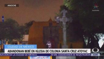 Abandona a bebé dentro de iglesia en la colonia Santa Cruz Atoyac