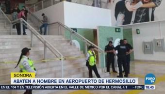 Abaten, hombre, Aeropuerto, Hermosillo,
