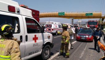 Carambola en la México-Puebla deja al menos 17 lesionados