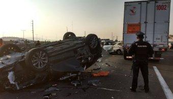 Choque múltiple en la México-Puebla causa cierre parcial de circulación