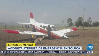 Aeronave aterriza de emergencia en Toluca