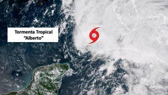 Mantienen alerta por tormenta Alberto en Península de Yucatá