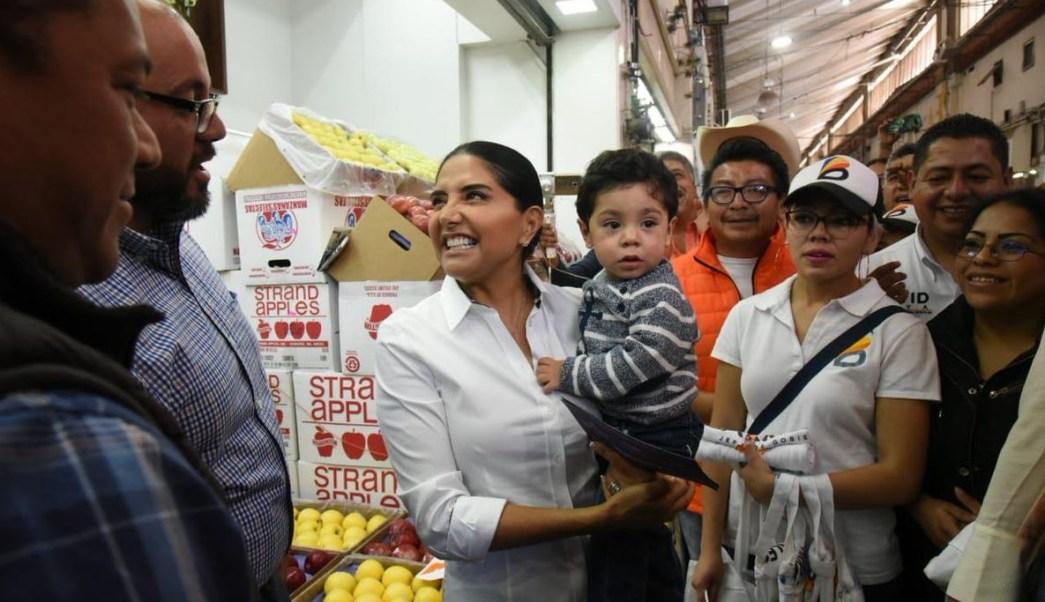 Alejandra Barrales promete atender peticiones locatarios Central Abasto