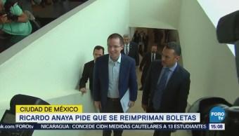 Anaya Pide Reimpriman Boletas Electorales