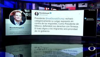 Anaya Rechaza Expresión Trump Contra Migrantes