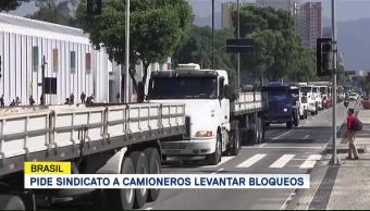 Pide Sindicato Camioneros Levantar Bloqueos Brasil