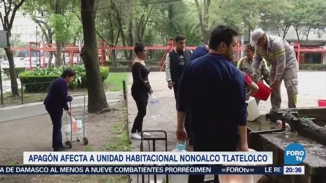Apagón afecta a unidad habitacional en Tlatelolco