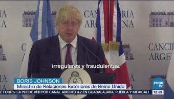 Argentina y Reino Unido coinciden en reinstaurar democracia en Venezuela