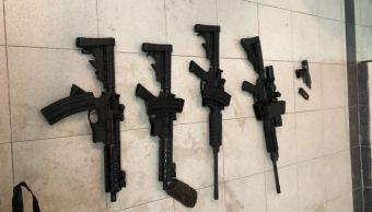 Aseguran arsenal y droga durante un cateo en NL