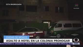 Asaltan hotel en la colonia Prohogar, CDMX