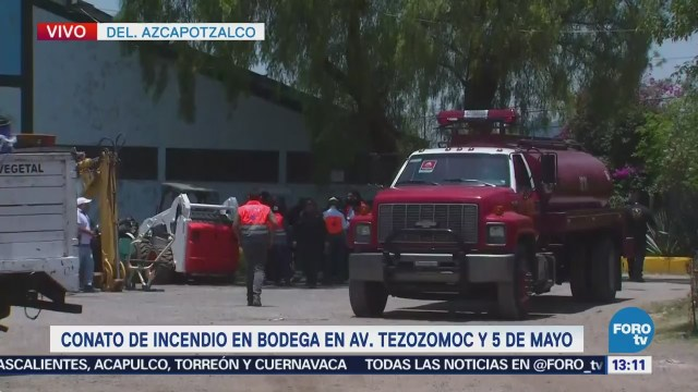 Atienden conato de incendio en avenida Tezozomoc