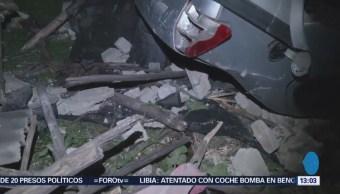 Auto Cae Desde Desnivel Aplasta Casa