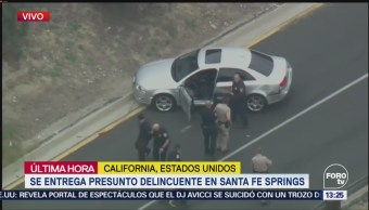Automovilista Desata Persecución California,