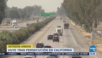 Autoridades de California persiguieron durante una hora a delincuente sexual