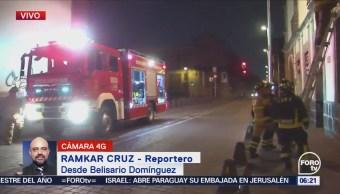 Bomberos atienden fuga de gas en centro de la CDMX