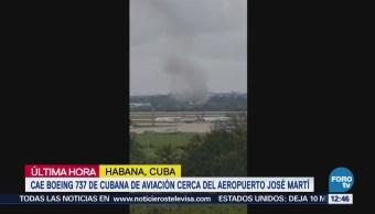 Cae Boeing 737 de Cubana de