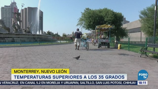 Calor Sorprende Turistas Monterrey Nuevo León