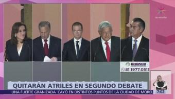 Candidatos presidenciales no tendrán atriles durante el segundo debate del INE