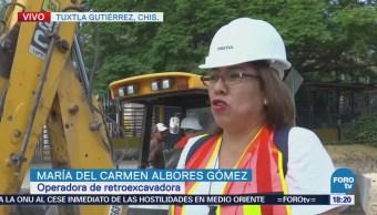 Capacitan Mujeres Trabajar Construcción Chiapas