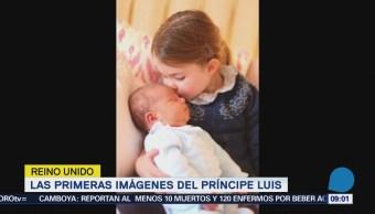 Captan al príncipe Luis dormido en brazos de su hermana Carlota