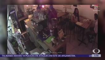 Captan asalto a comensales dentro de cafetería en la colonia Narvarte, CDMX