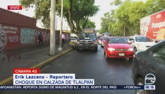 Choca microbús en Calzada de Tlalpan, CDMX