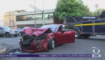 Choque de transporte público en Gabriel Mancera deja un herido