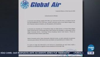 Compañía Global Air Reacciona Desplome Avión Cuba