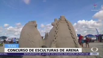 Competencia de esculturas de arena en Texas