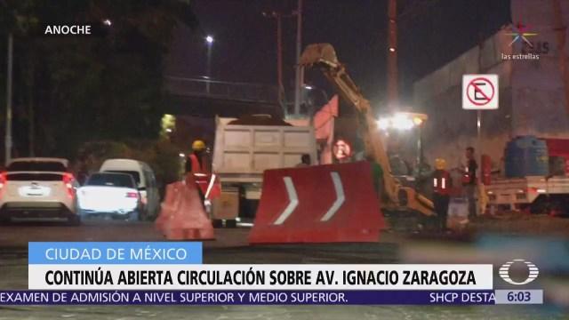 Continúa abierta a la circulación avenida Zaragoza