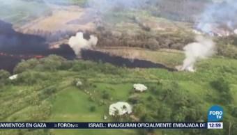 Continúa la erupción del volcán Kilauea
