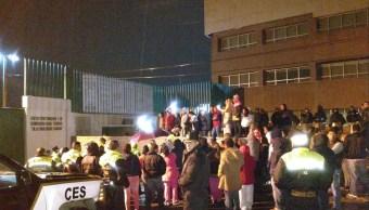 controlan manifestacion dentro del penal de texcoco