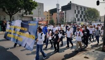 Damnificados del sismo del 19S marchan en Tlalpan, CDMX; se dirigen al Zócalo