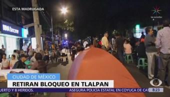 Damnificados de multifamiliares de Tlalpan instalan campamento